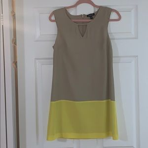 BEBE Dress Beige & Yellow